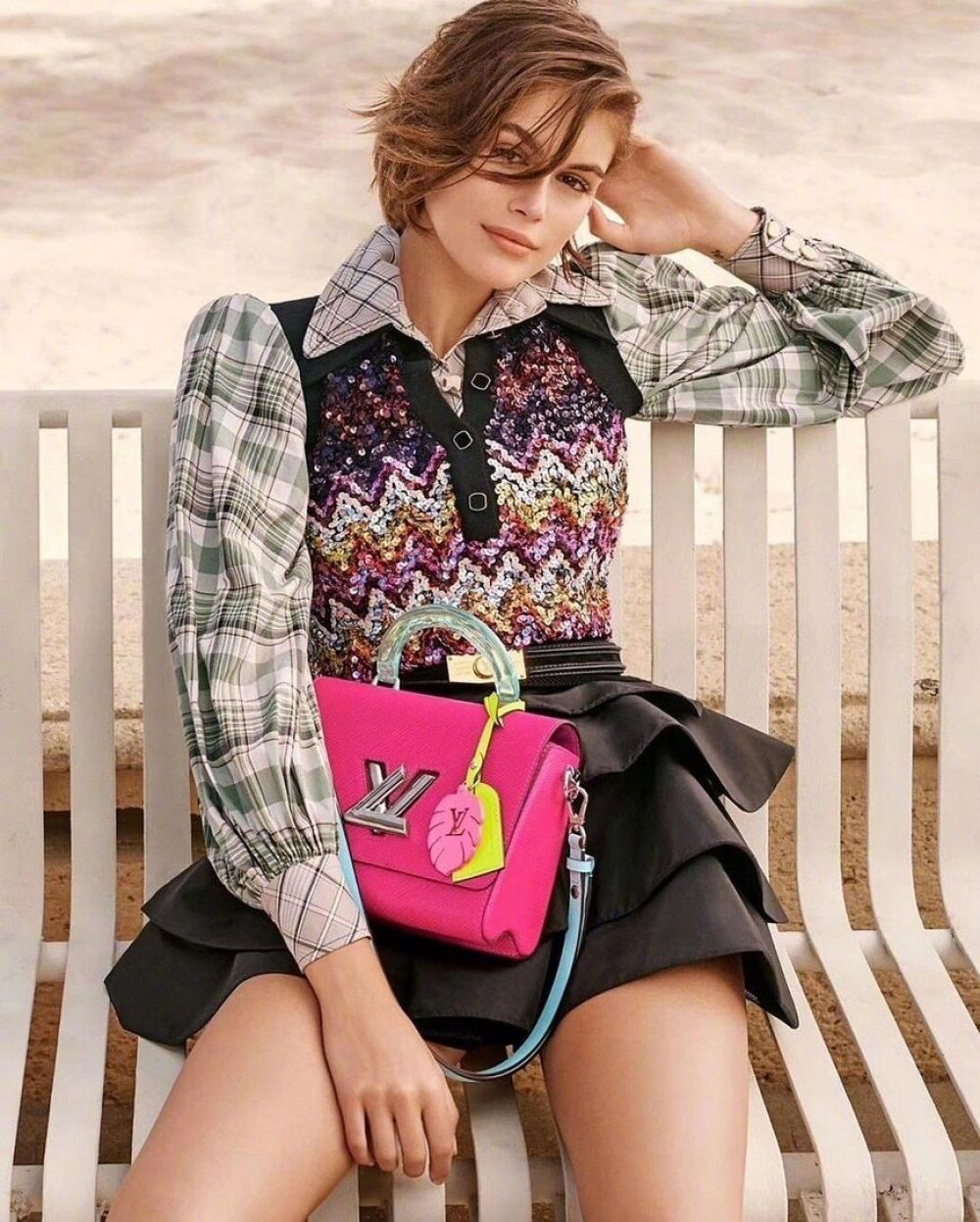Kaia Gerber for Louis Vuitton Twist Bags for Spring 2020 Campaign 0