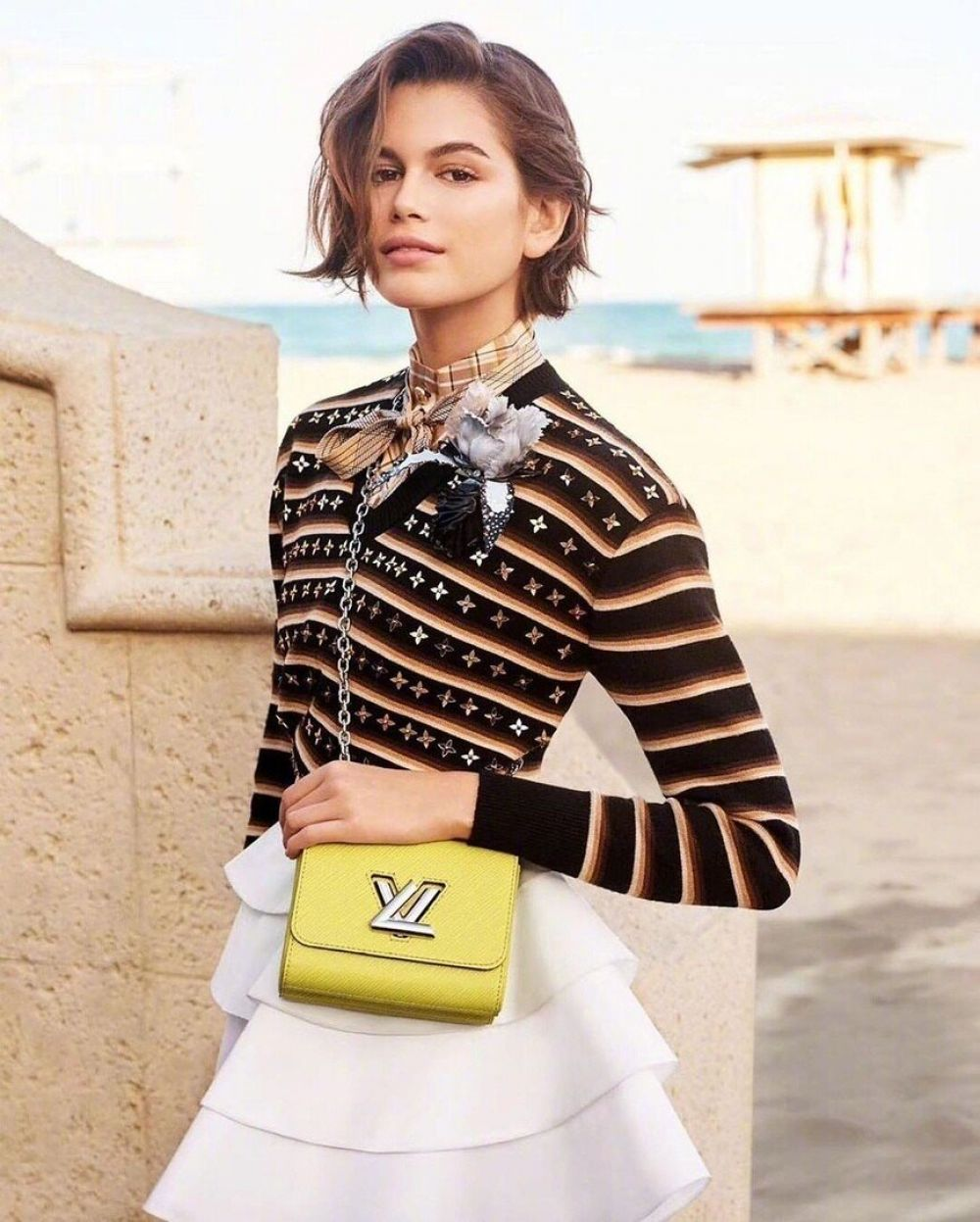 Kaia Gerber for Louis Vuitton Twist Bags for Spring 2020 Campaign 1
