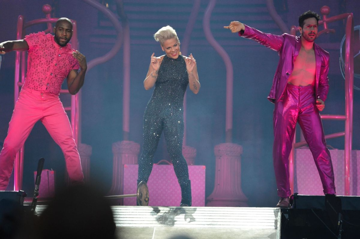 PINK Performs at Rds Dublin at Her Beautiful Trauma World