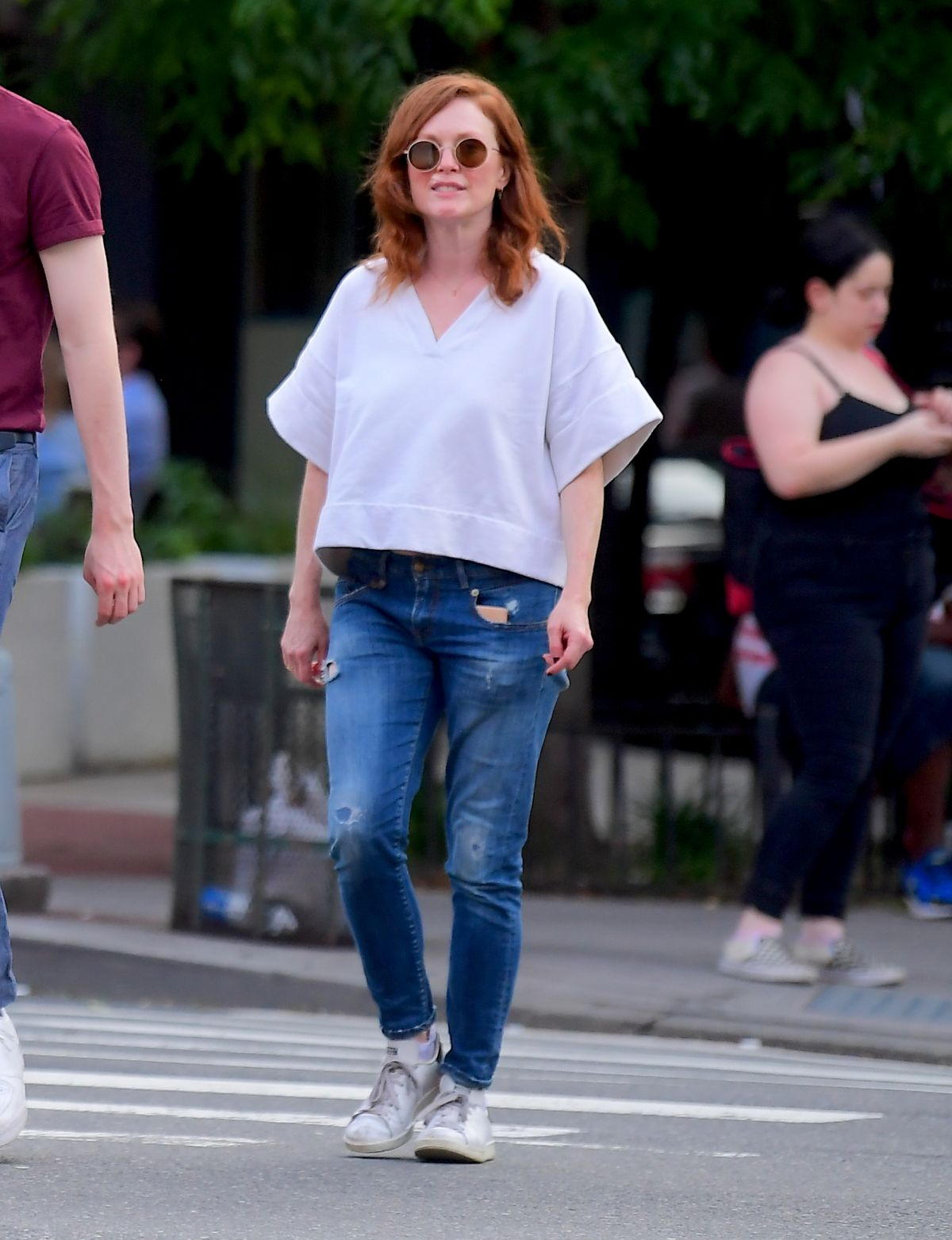 Julianne Moore and Her Daughter Liv Freundlich Out in New York, 06.23.2019 2