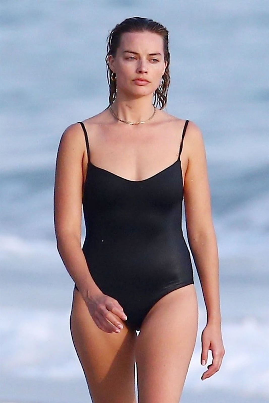 Margot Robbie in Swimsuit on the Beach in Costa Rica, 07